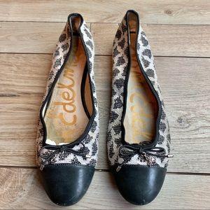Sam Edelman   Black & White Flats   Size 9.5